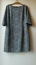 Beautiful BNWT Florence and Fred  black and white animal print dress size 20