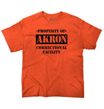 Property of Akron, OH Prison The New Black Novelty  Graphic Youth T-Shirt