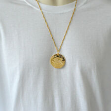 American Liberty Eagle Coin Necklace Pendant Mens Necklaces 24k Gold Plated
