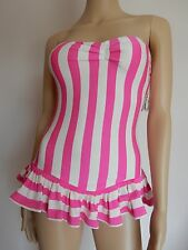 Juicy Couture Boho stripe bandeau swimdress swimsuit S M L XL $160 Beauty