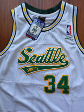 NBA Seattle Supersonics Ray Allen Throwback Swingman Sewn/Stitched Jersey NWT