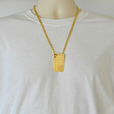 Canadian Maple Leaf Necklace Pendant Curb Chain 24k Gold Plated Necklaces - Tail