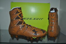 Under Armour Mens Highlight MC Limited Edition Football Cleats Brown Woodgrain