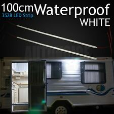 2 X White 12V LED Strip Lights 1.2M Long Caravan Awning Tent Camping Bars 4WD