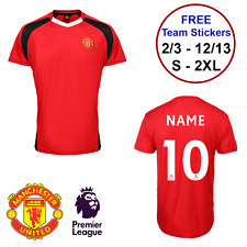 PERSONALISED NAME NUMBER Manchester United FCOfficial T-shirt Kids & Adults gift