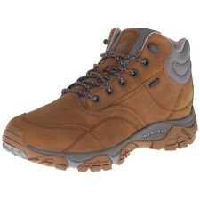 Merrell Mens Moab Rover Mid Waterproof Hiking Shoes Brown Abrasion Resistant