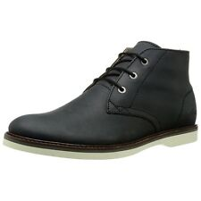 Lacoste Mens Sherbrooke Chukka Boots Black Leather Ankle Boots 0164 New