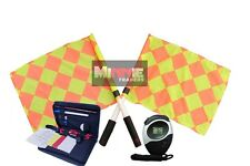 Brand New Diamond Flag Set with Referee data Wallet & Digital Stopwatch (SW005)