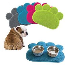 Dog Puppy Paw Shape PVC Placemat Pet Cat Dish Bowl Feeding Food