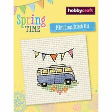 Hobbycraft Spring Time Assorted Designs Mini Cross Stitch Kit Sewing Embroidery