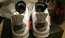 "2016 Nike Air Jordan 4 89 OG ""White Cement"" size 6Y to 10"