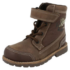 Clarks TINY MAPPLE Brown Boys Leather Boots 7 - 12.5 F & G Widths