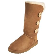 Women Boots UGG Bailey Button Triplet Winter Boots Sheepskin 1873 Authentic