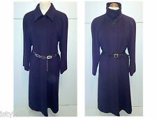 JAEGER CASHMERE WOOL Trench Coat Full Length Mac Jacket Mac Funnel 12 RRP £450