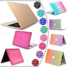 Rubberized Hard Case For Macbook Air Pro Retina 13 11 15 12 +Free Keyboard Cover