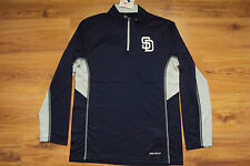 SAN DIEGO PADRES NEW MLB MAJESTIC COOL BASE TEAM STATS FLEECE