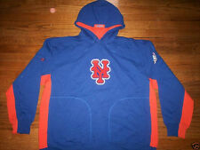 NEW YORK METS NEW MLB MAJESTIC PURE V2 COOPERSTOWN HOODED SWEATSHIRT