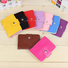 Cute Candy Colors Women Pocket Wallet Holder Business ID Card Credit Bag Case