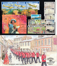 Alderney stamps 1983 - 2000 Unmounted mint sets - multi listing your choice