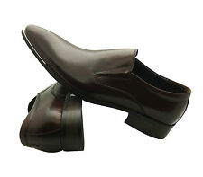 BRAND NEW Moretti Brown Label Dressy Formal Leather Slip On Dress Shoes M31073