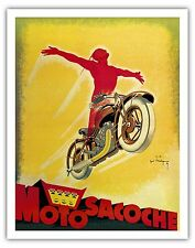 Motosacoche Motorcycle Switzerland Vintage Advertising Art Poster Print Giclée