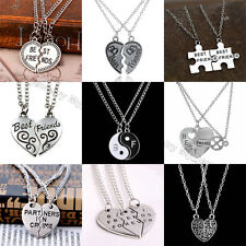 Fashion Women Necklace Gift Friendship Jewelry Broken Heart Best FriendsPendant