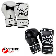 Pro Box Barbarian Boxing Sparring Training Gloves MMA Muay Thai Black or White