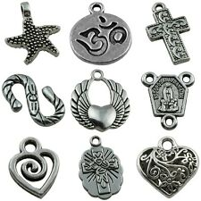 Wholesale Tibetan Silver Heart Prayer Cross Beads Pendant Charms Jewelry Finding