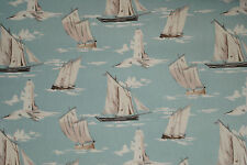 Clarke and Clarke Skipper Mineral Cotton PVC WIPE CLEAN Tablecloth Oilcloth