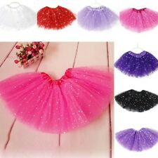 Girls Kids Dress Bling Sequins Tutu Skirt Princess Party Ballet Dance Pettiskirt