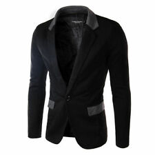 Brand New Stylish Mens Casual Slim Fit One Button Blazer Coat Formal Suit Jacket