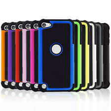 Heavy Duty Armor Case Tough Hybrid Hard Cover for Apple iPod Touch 5th 6th Gen