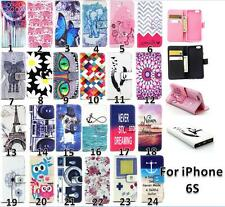 New Pattern Slim Wallet KickStand Flip Magnetic Leather Case Cover For iPhone 6S
