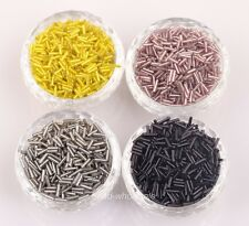 1000 pcs Tube Czech Glass Spacer Beads 8x2mm Jewelry Making DIY Lots