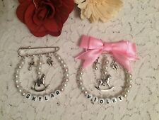 KILT PIN PERSONALISED PRAM CHARM - CHOICE OF DESIGN AND COLOUR