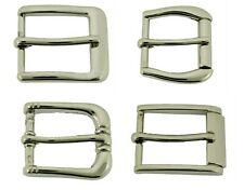 "New Single Prong Belt Buckle Pin for up to 1"" (25 mm) Leather Belt Strap Silver"