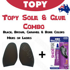 FIX SHOES - TOPY SOLES & GLUE COMBO  For Ladies & Mens 1.5MM Industrial Grade