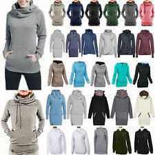 Womens Long Sleeve Hoodies Sweatshirt Hooded Tracksuit Tops Coat Sweater Outwear