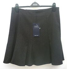 M&S Collection Sizes 14 18  Flared Panelled Lined Mini Skirt Bnwt Black Spot