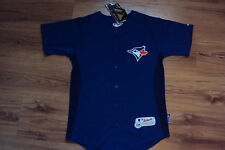 TORONTO BLUE JAYS NEW MLB MAJESTIC AUTHENTIC COOL BASE KIDS JERSEY