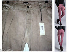GUARAPO Made In Italy 3361 Acid Wash Drop Crotch Slim Trousers Chino W30 RRP £89