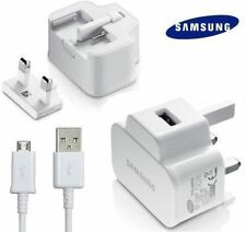 GENUINE SAMSUNG MAINS USB WALL CHARGER + DATA CABLE FOR GALAXY S4 S2 S3 S5 NOTE