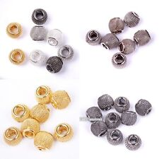 12mm Silver/Golden/Black Tone Alloy Spacer Beads Basketball Wives Earrings 20pcs
