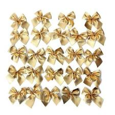 12pcsChristmas Tree Bow Decoration Winter Merry XMAS Party Bows Garden Ornament#