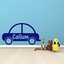 CAR Vehicle Personalised ANY NAME Boys Girls Bedroom Wall Art Sticker Decal