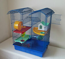 Hamster Large Cage House Tube 3 lvls Wheel Mouse Gerbil Tower 100ml Water Bottle