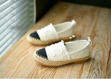Letter Logo Baby Boys Girls Toddler Junior Espadrilles Canvas Casual Shoes 5-18Y