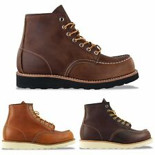 RED WING BOOTS - NEW RED WING MOC TOE BOOT - TAN/BROWN - BNIB