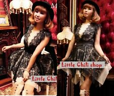Sweet Fashion Dolly Princess Cute Kawaii Lolita Party Slim Sleeveless Lace dress