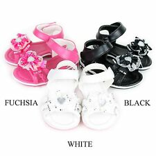 New Baby Infant Toddler Strappy Cute Floral Dress Sandals Shoes Size 2-7